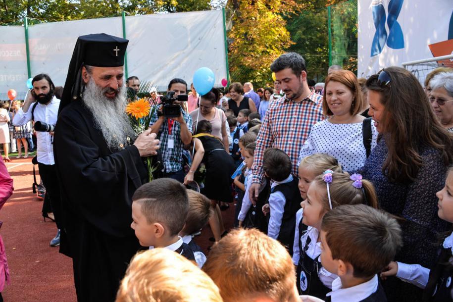 "Deschiderea anului școlar la Școala ""Varlaam Mitropolitul""/ Foto: Tudorel Rusu"