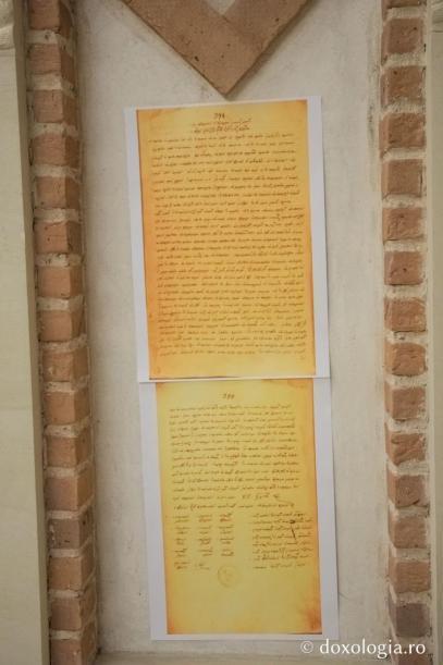Scrisoarea sinodală si patriarhală prin care se dăruiesc moaştele Sfintei Parascheva lui Ioan Vasile Voievod (fotocopie după original) / Foto: pr. Silviu Cluci
