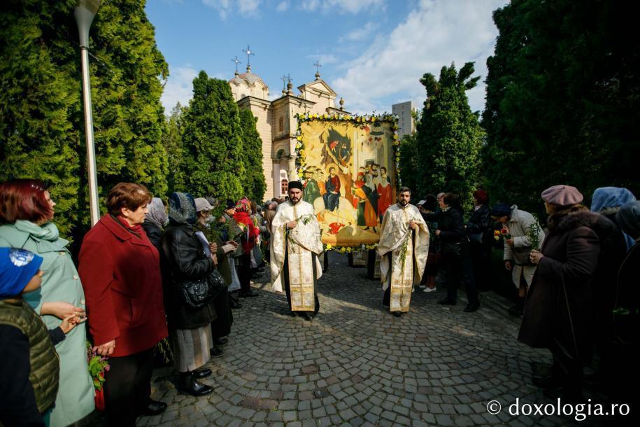 """Pelerinajul de Florii a pornit de la Biserica """"Bărboi"""" din Iași / Foto: pr. Silviu Cluci"""